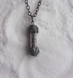 Lavender Vial Pendant Necklace - magick herbs wiccan wicca pagan magic herb magic valentine's day gift. $25.00, via Etsy.
