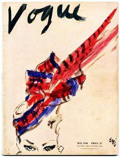 Vogue UK 1946., Illustration by Carl 'Eric' Erickson