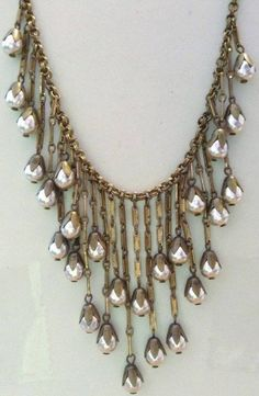 Vintage Miriam Haskell signed dangling niki pearl Egyptian necklace - I WISH! Jewelry Crafts, Jewelry Art, Antique Jewelry, Vintage Jewelry, Jewelry Accessories, Jewelry Design, Fashion Jewelry, Cheap Jewelry, Coin Jewelry