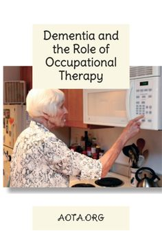 AOTA has several helpful factsheets that you can use in your practice. Learn more about the role of occupational therapy with dementia here. What Is Occupational Therapy, Certified Occupational Therapy Assistant, Dementia Awareness, Alzheimer's And Dementia, Senior Fitness, Alzheimers, Helping People, Wellness, Student
