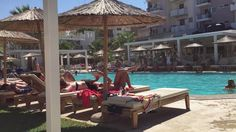 Chillout Stimmung im Palm Beach Club in Hersonissos