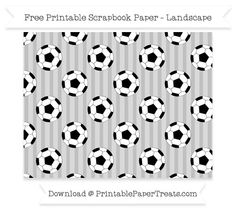 Landscape Silver Striped Large  Soccer Ball Pattern Paper