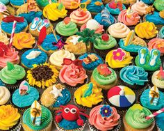 Summer Cupcakes Jigsaw Puzzle 1000 Pieces | Vermont Christmas Company
