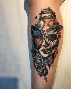 Tatuagem criada por Gustavo Takazone de Álvares Machado - SP.    Trabalho autoral super colorido.