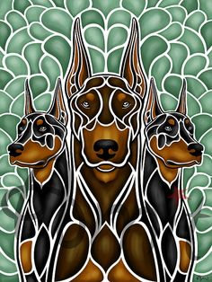 Doberman Pinscher. via Etsy. ... Free Report: 90 Dog Training Tips http://tipsfordogs.info/90dogtrainingtips/