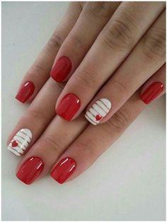Valentine's Day Nail Designs, Cute Nail Art Designs, Acrylic Nail Designs, Acrylic Nails, Coffin Nails, Stiletto Nails, Heart Designs, Nails Design, Shellac Nails