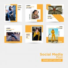 Discover thousands of Premium vectors available in AI and EPS formats Layout Do Instagram, Instagram Banner, Instagram Grid, Instagram Post Template, Instagram Design, Social Media Images, Social Media Design, Social Media Graphics, Fb Banner