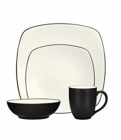 Noritake 4-Piece Colorwave Square Place Setting, Chocolate (bestseller)