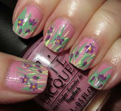 Marias Nail Art and Polish Blog: Pedal faster for a flower manicure, Suzi