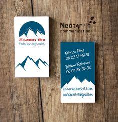 Carte De Visite Logo Pour Evasion Ski Moniteurs Independants En Haute Savoie Impression Recto Verso Vernis Soft Touch