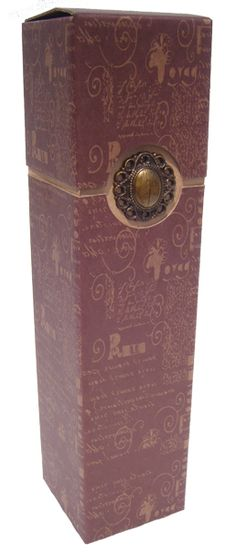 Quality made, strong wine bottle box with separate lid and attractive jewel like accessory attached to the front. Each wine bottle box will arrive packed flat with easy assembly instructions included. This design has a patterned box in a subdued bronze finish. Assembled measurements are 82mm wide x 82mm deep x 340mm high. Hamper Boxes, Gift Hampers, Bottle Box, Collar Designs, Gift Boxes, Bronze Finish, Separate, Strong, Wine