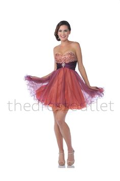 Red &amp- Blue Strapless Sequin Tulle Tutu Homecoming Dress - Unique ...