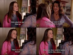 """Kirk asked me out."" -Lorelai ... ""I bet he likes ponies."" -Rory"