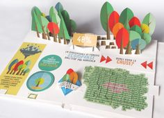 The pop up book as a sensorial and experiential communication tool of environmental issues Pop Up, Information Visualization, Data Visualization, Information Design, Information Graphics, Up Book, Book Art, Paper Pop, 3d Paper