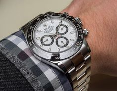 New Rolex Cosmograph Daytona Watch With Black Ceramic Bezel and Updated Movement Hands-On