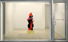 Galerie Piece Unique - TEMPS SUSPENDU Bronze, black patina & red oil CM 180x79x57 1999