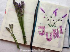 Edgarten - Gartenblog: 📘  Bullet Journal - Juni mit Lavendel - Tag 78 Bullet Journal, Juni, Homeschooling, Bobby Pins, Hair Accessories, Small Notebook, Day Planner Organization, Lavender, Holiday