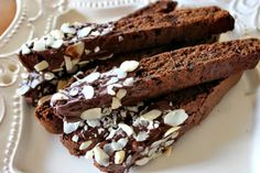 Coffee and chocolate lovers alike will cheer over this Chocolate Almond Biscotti Recipe! Its the perfect combo for your morning cup of joe!