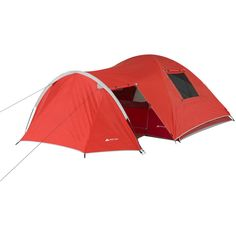 Dome Tent 4-Person Vestibule Full Coverage Fly Weather Protection Gear Storage #TentsHome