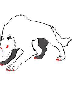 Uma ilustração de um lobo feita por mim.