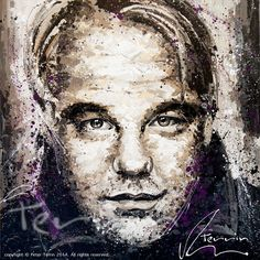 """Thrilled to announce my solo exhibition in NEW YORK CITY in April 2015 with my centerpiece: Philip Seymour Hoffman Acrylic On Canvas 185cm x 185cm (73"""" x 73"""") by Peter Terrin"""
