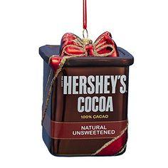 Glass Hershey's Cocoa Ornament for Christmas tree - #ChocolateTreeOrnaments