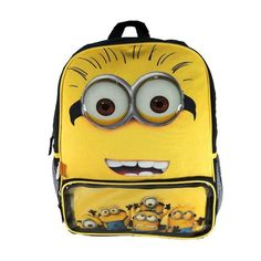 Despicable Me Backpack 16 Inch Minion Jerry School Books Lunch Vacation Luggage Best Hiking Backpacks, Day Backpacks, Sequin Backpack, Despicable Me 2, Backpack Reviews, Kids Bags, My Bags, Luggage Bags, Totes