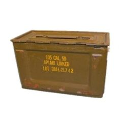 WWII .50 Cal Ammo Can / Box $9.99 storage for military themed boys room