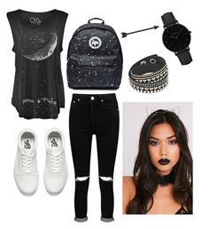 """🖤"" by eriarai on Polyvore featuring Boohoo, Vans and CLUSE"