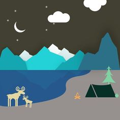 Wilderness #illustration #assembly #design #flat #vector #vectorart
