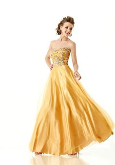 Floor Length Sleeveless Tulle A line Sweetheart Natural Waist Dresses For Prom - 1300303772B - US$249.99 - BellasDress