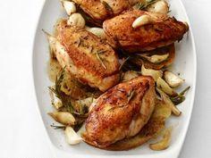 Garlic-Roasted Chicken Recipe | Food Network Kitchen | Food Network