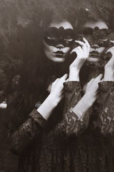 Masquerade (Halloween Gala) these masks we wear / karen cox. Double masquerade: Un deux by *iNeedChemicalX Dark Photography, Black And White Photography, Fashion Photography, Event Photography, Diy Photo, Woman Mask, Mask Girl, Georges Braque, She Wolf