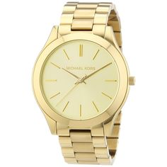 Crafted of yellow goldtone stainless steel, this Michael Kors women's Runway watch is a stunning look for your style. Running on a Japanese quartz movement, this watch is protected by a scratch-resistant mineral crystal.