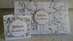 Verpackung +Karte zur Hochzeit Home Decor, Card Wedding, Packaging, Homemade, Cards, Decoration Home, Room Decor, Home Interior Design, Home Decoration