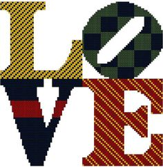 LOVE  Cross Stitch Pattern by oneofakindbabydesign on Etsy, $6.95
