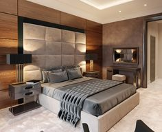 hotel bedroom hotel room on Behance Hotel Bedroom Design, Bedroom False Ceiling Design, Master Bedroom Interior, Bedroom Closet Design, Bedroom Furniture Design, Hotel Bedrooms, Furniture Layout, Modern Luxury Bedroom, Modern Bedroom Design