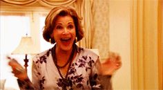 lucille bluth. arrested development. excited #gif.
