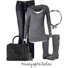 """Rainy Monday"" by kaseyofthefields on Polyvore"