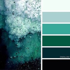 Shades Of An Ocean Storm whole house color palette paint interior Nature Color Palette, Green Colour Palette, Green Colors, Colours, Blue Green, Color Schemes Colour Palettes, Palette Art, Color Palate, Green Master Bedroom