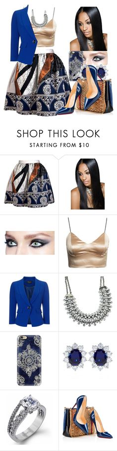 """Untitled #35"" by thaofficialtrillqueen ❤ liked on Polyvore featuring Joana Almagro, Precis Petite, Casetify, CARAT* London, Simon G. and Christian Louboutin"