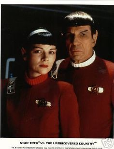 Star Trek VI Spock Leonard Nimoy With Kim Cattrell Movie Promo Licensed Photo!