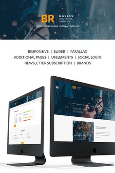 Joomla Theme , Black Rock - Industrial Company