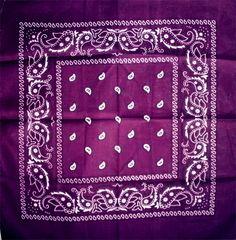 Bandana Paisley (Purple)