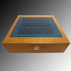 Caja decorativa de madera para tés. #Cajas #Madera #Wood #Boxes #Tea #Tés #Handmade #HechoAMano