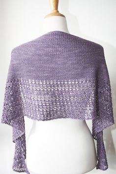 Ravelry: Rosewater shawl with Wollmeise Blend - knitting pattern by Janina Kallio.