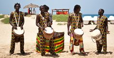 African drummers from Senegal and Guinea drumming in #CapeVerde #TeamFunana #TeamCapeVerdean