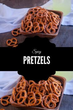 It's snack time! Spicy Pretzels are an addictive crunchy cocktail or anytime snack!