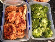 Easy lunch: spicy yogurt marinated chicken