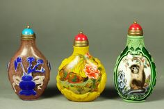 Glass and ceramics are beautiful. And if you like to collect, small objects (like these snuff bottles from China) allow you to put together an eclectic array in not-a-lot-of-space.  I wouldn't collect them myself, but I definitely see the appeal.